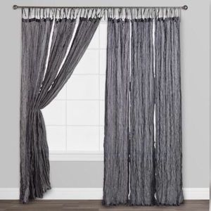 World Market Gray Crinkle Voile Cotton Curtains
